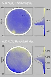 Atomic layer deposited Al2O3 on silicon wafer