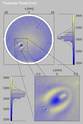 Thickness map of spin coated photoresist / Si (substrate) with step size of 500 µm and 100 µm11
